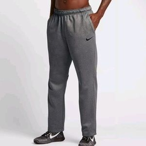 nike therma sweatpants training pants gray sz L